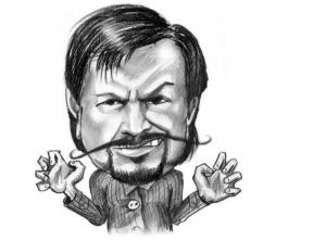 murdock with mustache